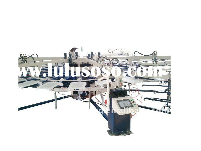 Third generation new style automatic textile screen printing machine