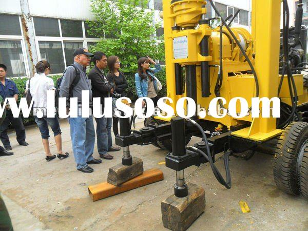 Trailer type portable water well drilling rigs for sale (100-600m)