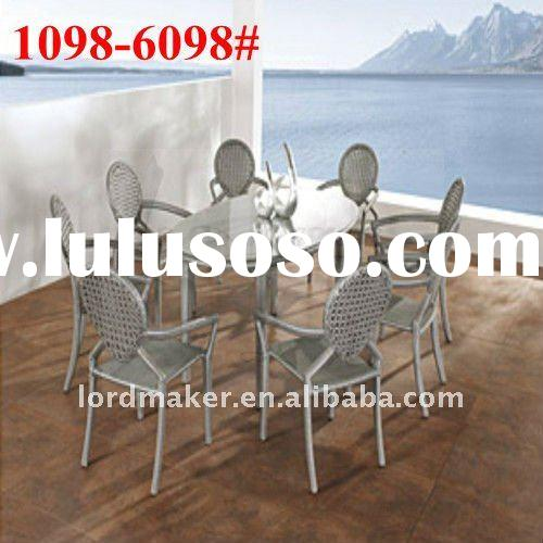 Vintage outdoor furniture of garden furniture round bench with 8 seats dining set(1098#-6098#)