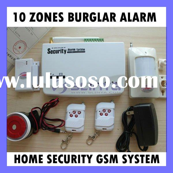 Wireless gsm sms burglar alarm Home security System 10 zones dual band GSM Alarm