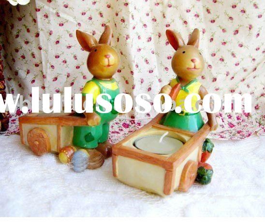 ceramics bunny, rabbit tea light holder