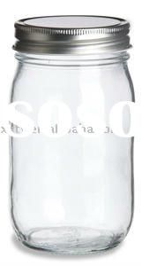 clear round glass mason jar /gaint mason glass jar