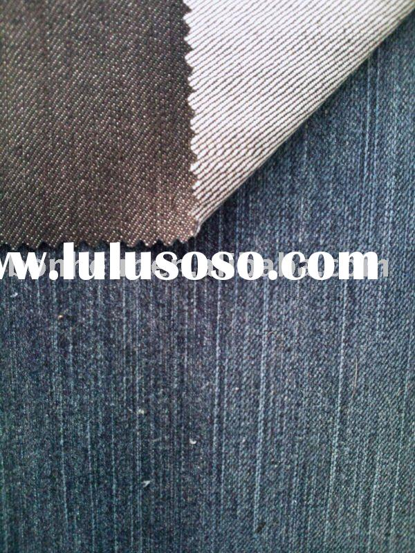 cotton polyester stretch denim / jeans fabric