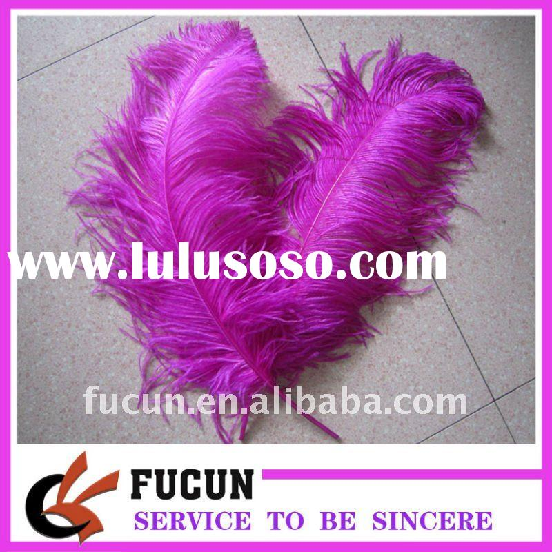 fashion hot pink color loose Ostrich feathers
