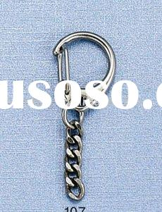 fashion lobster clasp/metal lobster clasp/key ring with chain