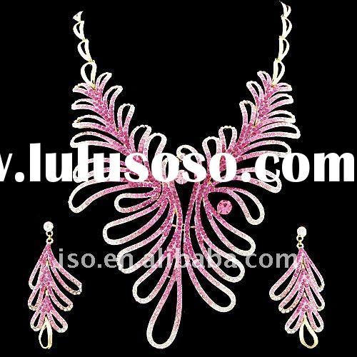 fashion rhinestone necklace and earring sets