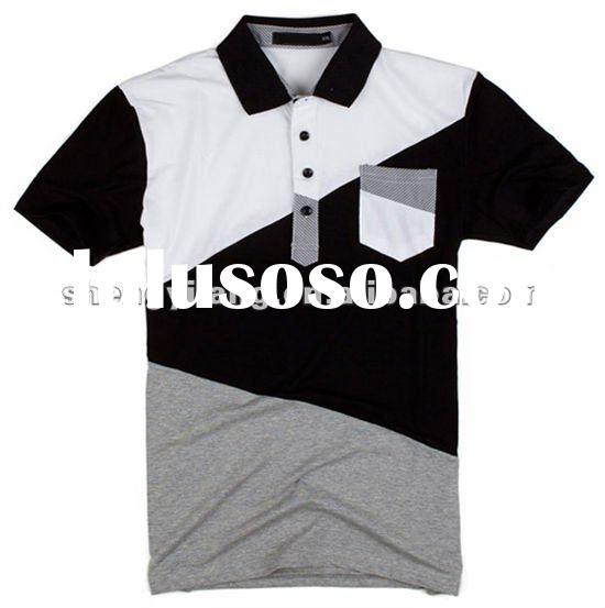 fashional jointing polo shirts men's sport wear short sleeve polo t shirts