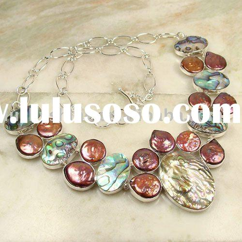 gold jewelry necklace silver fashion gemstone natural abalone shell