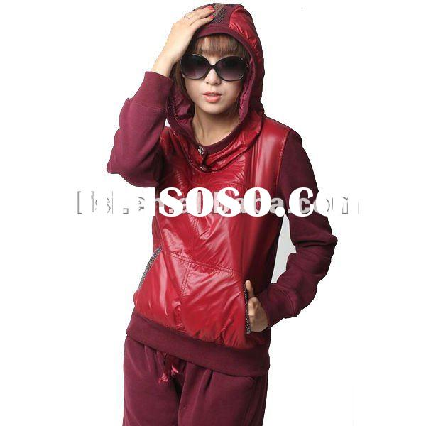 good quality fleece fashion casual ladies sportswear