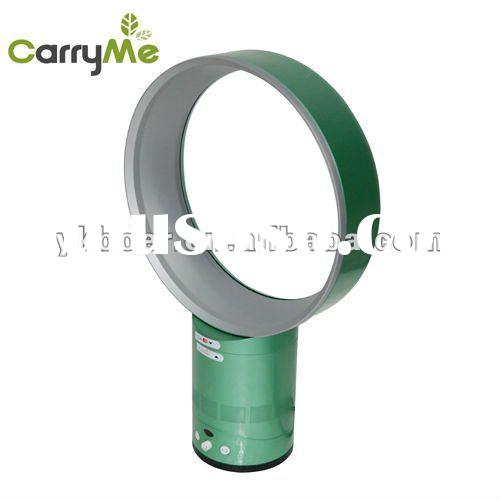 """green color 12"""" round bladeless table fan, electrical bladeless fan with remote control, no lea"""
