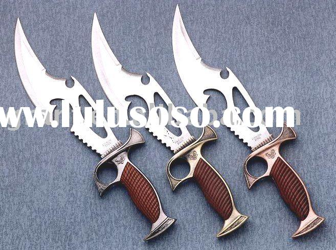 hunting knife/bowie knife/survival knife/fantasy knife/fancy knife/dragon knife/sporting knife/stain