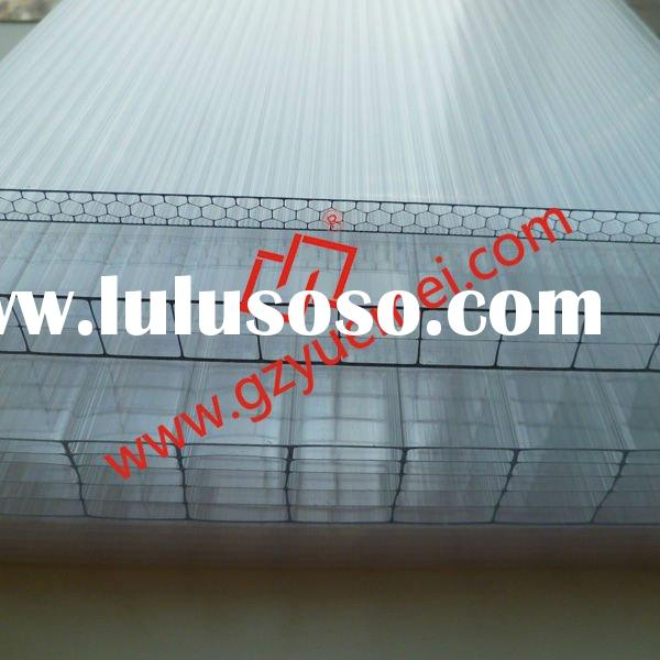 multi-wall polycarbonate roofing panel for canopy, greenhouse, stadium, project, ground, hall