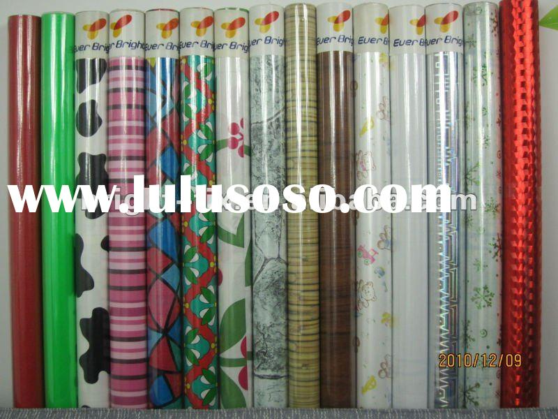 pvc printed (wooden and marble,flowers pattern)self adhesive film/foil/vinyl/wall paper/contact pape