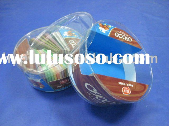round clear plastic dessert/cake/biscuit packaging box