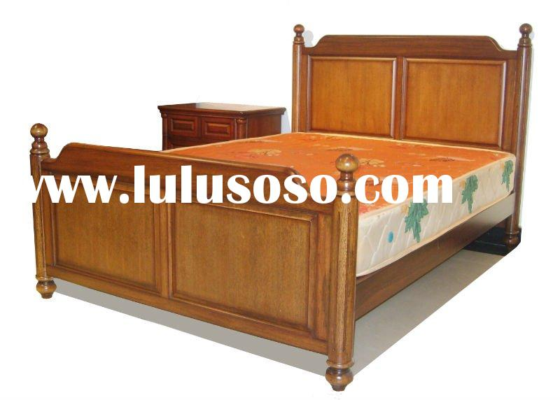 solid wood European bedroom set furniture 10M-C07