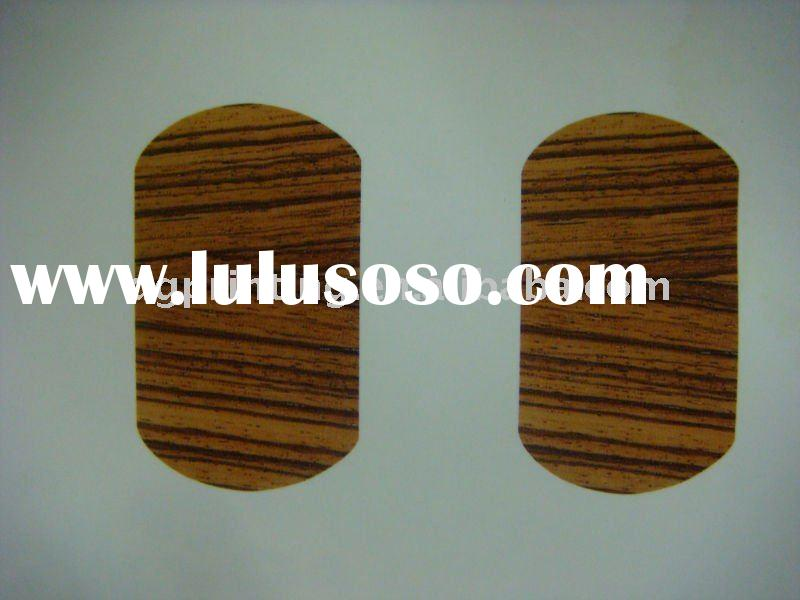 water transfer decal with wood grain pattern