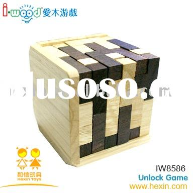 wooden game-IQ Puzzle ( china wooden toys manufactory,puzzle game,wooden IQ Puzzle)