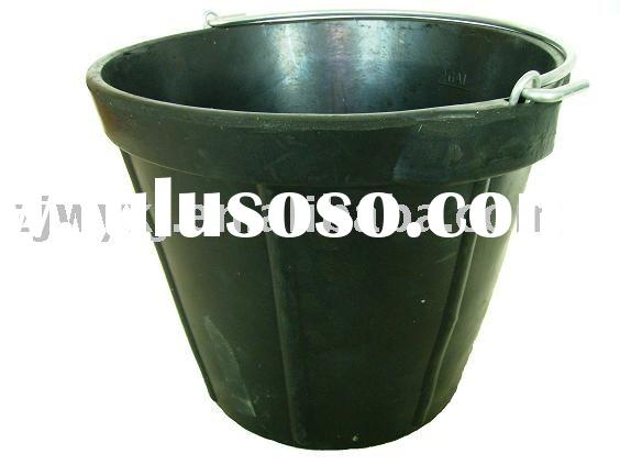 10L recycled rubber bucket&pails,construction bucket
