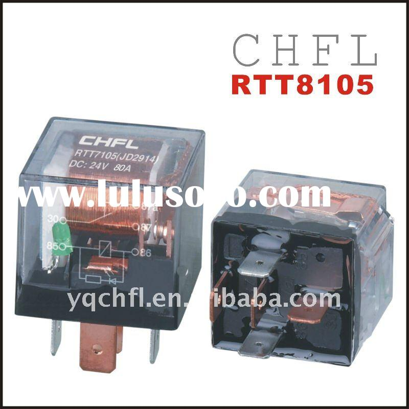 12 V, 80A ,5 Pin, Transparent with LED Auto Car Relays RTT8105