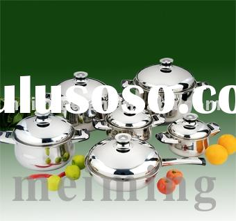 12 pcs High quality stainless steel pots and pans
