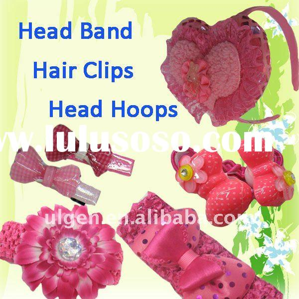 2011 fashion girl hair head band clip hoop sets product sourcing service