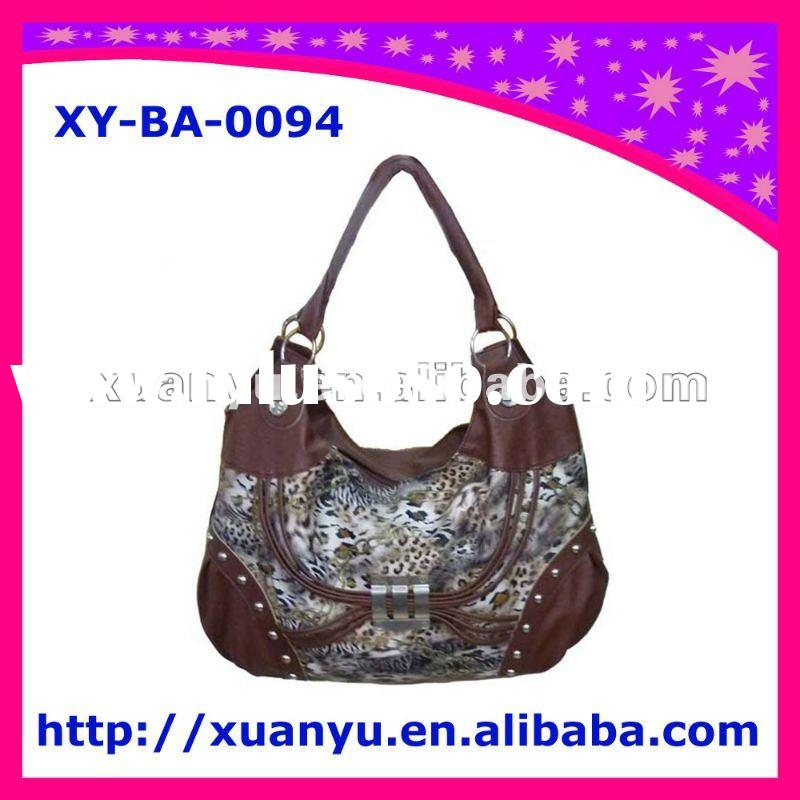 2011 fashion pu leather cheap animal print handbags