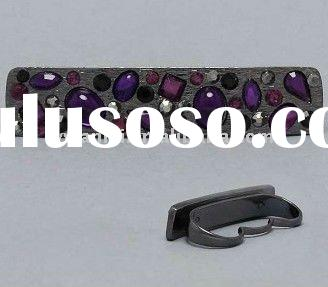 2011 high fashion jewelry purple rhinestone bar triple 3 finger knuckle ring factory direct