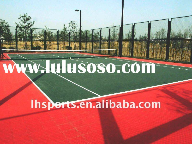 2012 Hot sale popular interlocking plastic tennis court flooring material with best price in China