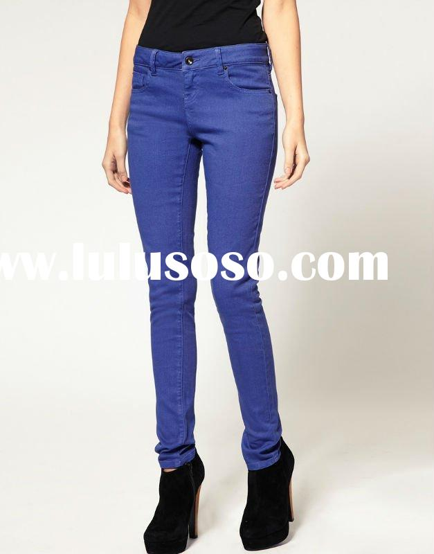 2012 Lady fashion skinny lavender jeans pants,tie washing jeans,ODM and OEM welcomed
