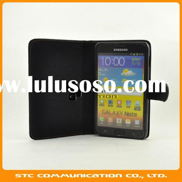 2012 New Arrival,Black Leather Case Belt Clip Cover for Samsung Galaxy Note i9220 GT-N7000 N7000,Ret
