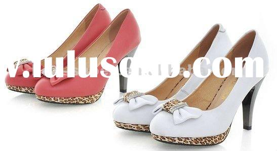 2012 Popular Ladies High Heel Shoes With Bowknot