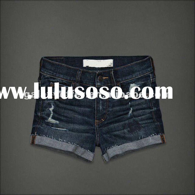 2012 Wholesale Hot name branded woman denim shorts