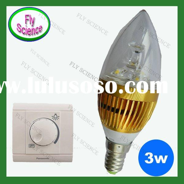 320LM dimmable 6w e14 led candle lamp