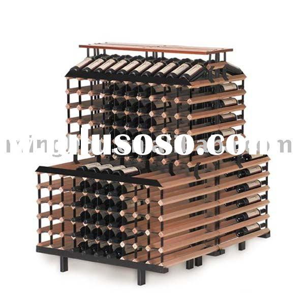 360 bottles modular wooden wine rack,wine shelf,wall wine shelf