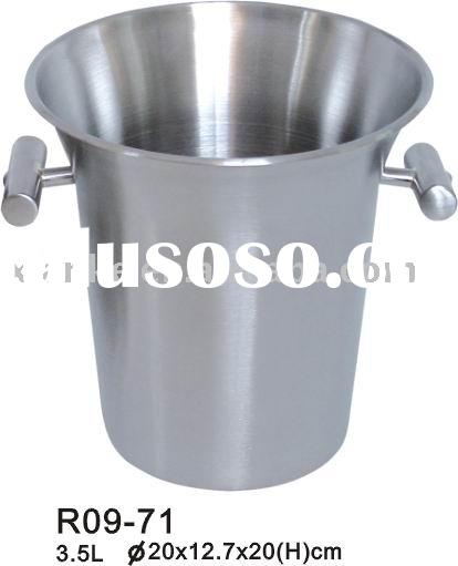 3.5L Single Wall Stainless Steel Champagne Cooler with Unique Handle