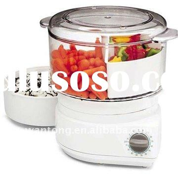 60-Minute timer with auto-off Food Steamer/Rice Cooker