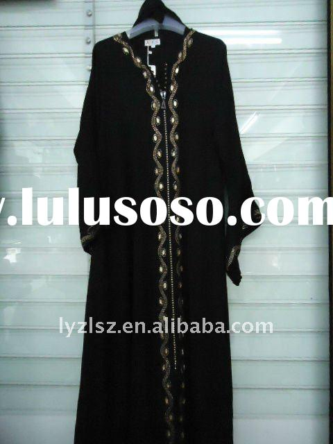 A081707 Hot sale boutique dubai abaya with diamond and embroidery