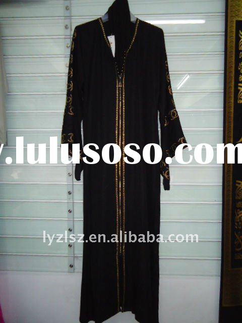 A081712 New style boutique dubai black abaya with diamond and embroidery,dubai fashion abaya