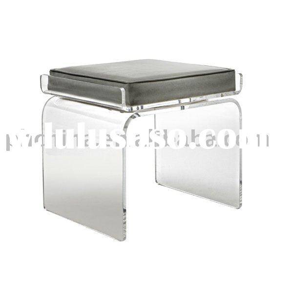 Clear Acrylic Swivel Icicle Bar Stool With Leatherette