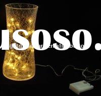 Crack glass lamp cover/shade with led light