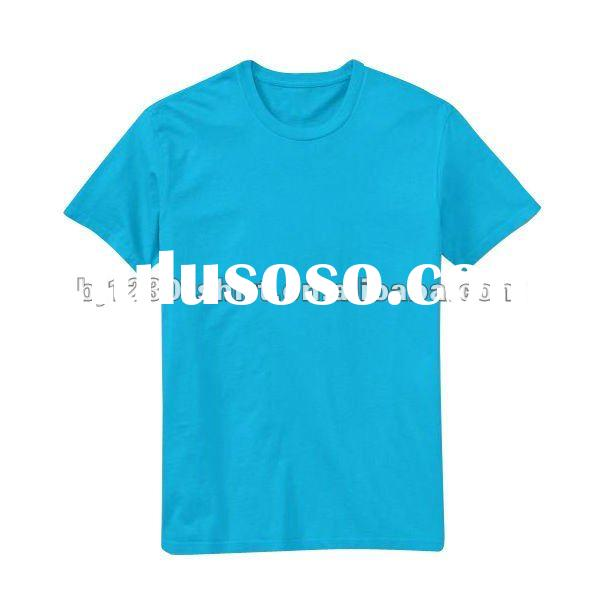 Custom Private Label 100% Cotton Men's Blank T-Shirts