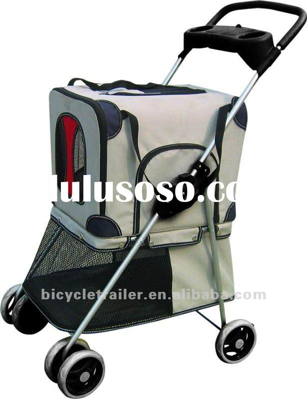 Dual function pet stroller trolley