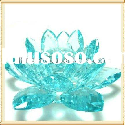 Fashion Blossom Light Blue Crystal Lotus For Party Decoration LH0036-YH