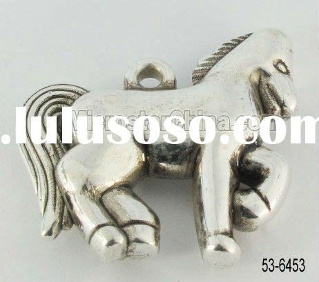 Fashion new design best sale cheap price horse plastic CCB pendant