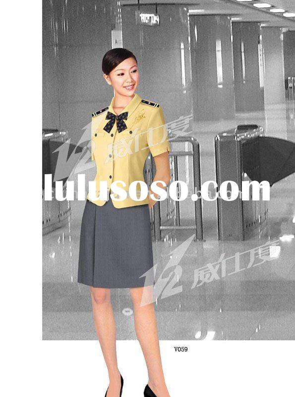 Fashionable high profile uniform for hotel receptionist 2011