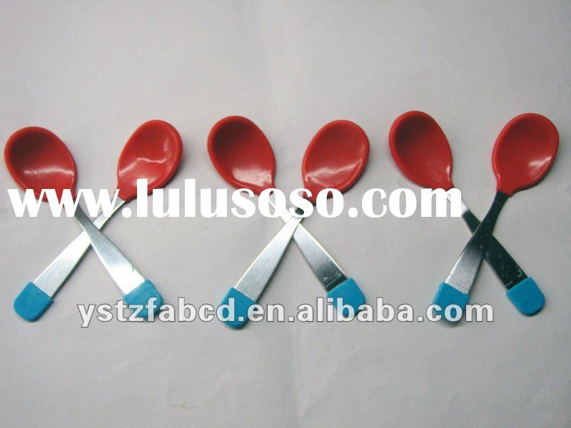 Food grade silicone baby spoon
