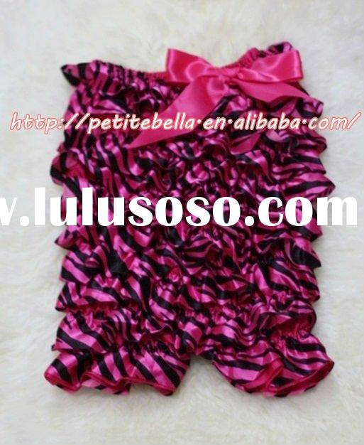 Hot Pink Zebra Petti Romper with Hot Pink Bow MALR49