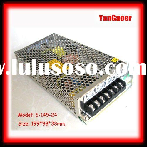 Hot~ S-145-24 best price and high quality 24VDC/12.1A single output LED switching power supply