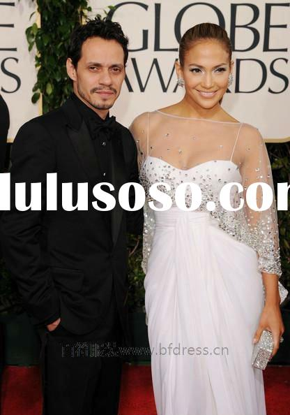 Jennifer Lopez 2011 Golden Globe Awards spaghetti traps shawl beads accented prom dresses celebrity