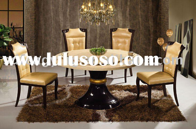 MARBLE DINING TABLE T-8006 AND CHAIR C1106
